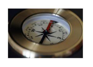 Die Vision der Zukunft ist ein Kompass